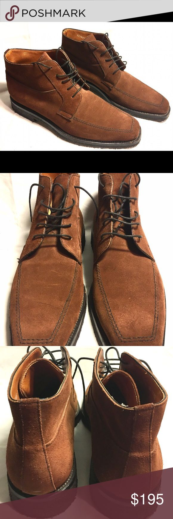 Moreschi Men's Suede Chukka Style Boots Size US 11 Moreschi Boots in excellent used condition. Very gently worn. Brown Suede Ankle Boots. Chukka Style. Gum/rubber soles. Very light wear. Size U.K. 9 - U.S. 11 Made In Italy Moreschi Shoes Chukka Boots