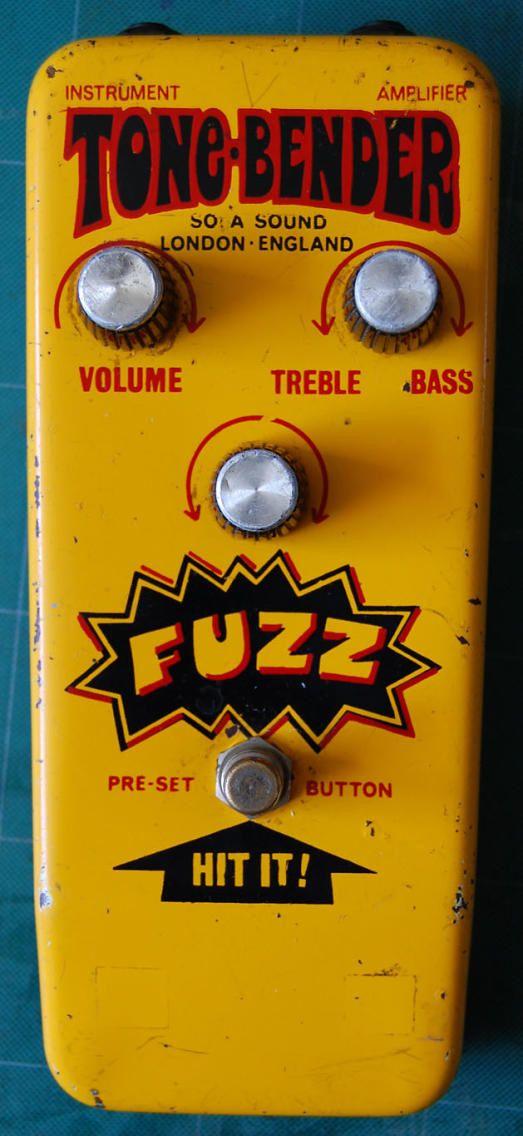 Sola Sound Yellow Tone-Bender Fuzz - 1970s