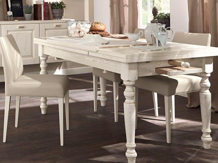 Tavolo allungabile da cucina in legno VECCHIA TOSCANA by Cucine ...