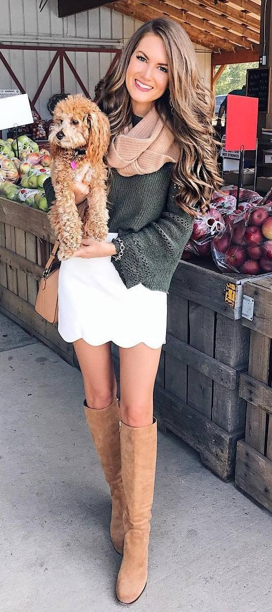 how to wear a knit skirt