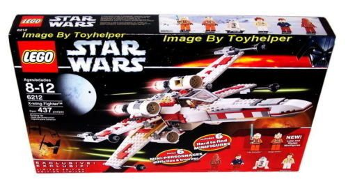 Star Wars Lego 6212 X Wing Fighter 6 Rare Figures NIB #LEGO