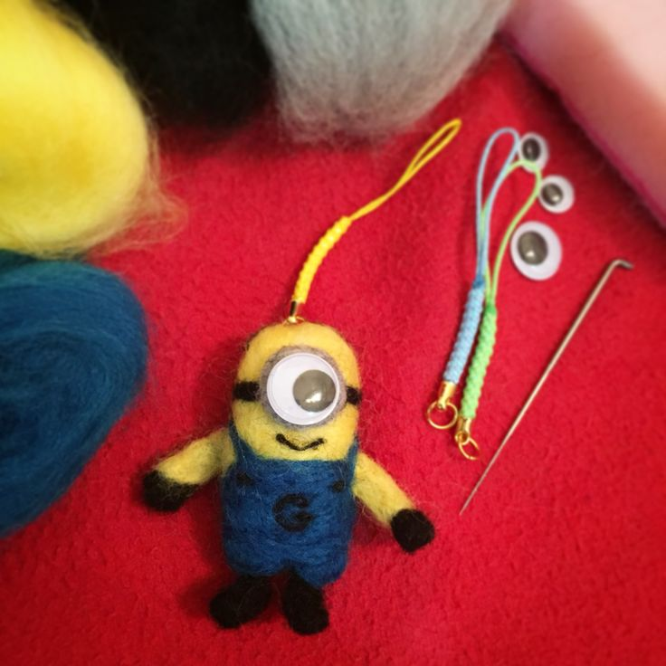 DIY Needle Felted Minion Stuart.
