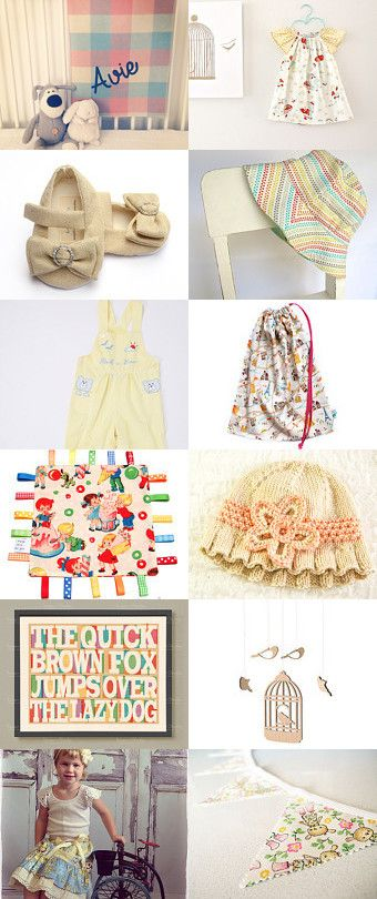 """Some beautiful baby gift ideas in this gorgeous treasury - """"Little Baby"""" by Kelly on Etsy"""