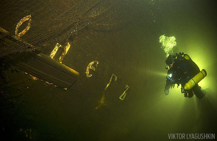 Oleg Shipwreck Underwater Russia Baltic Sea