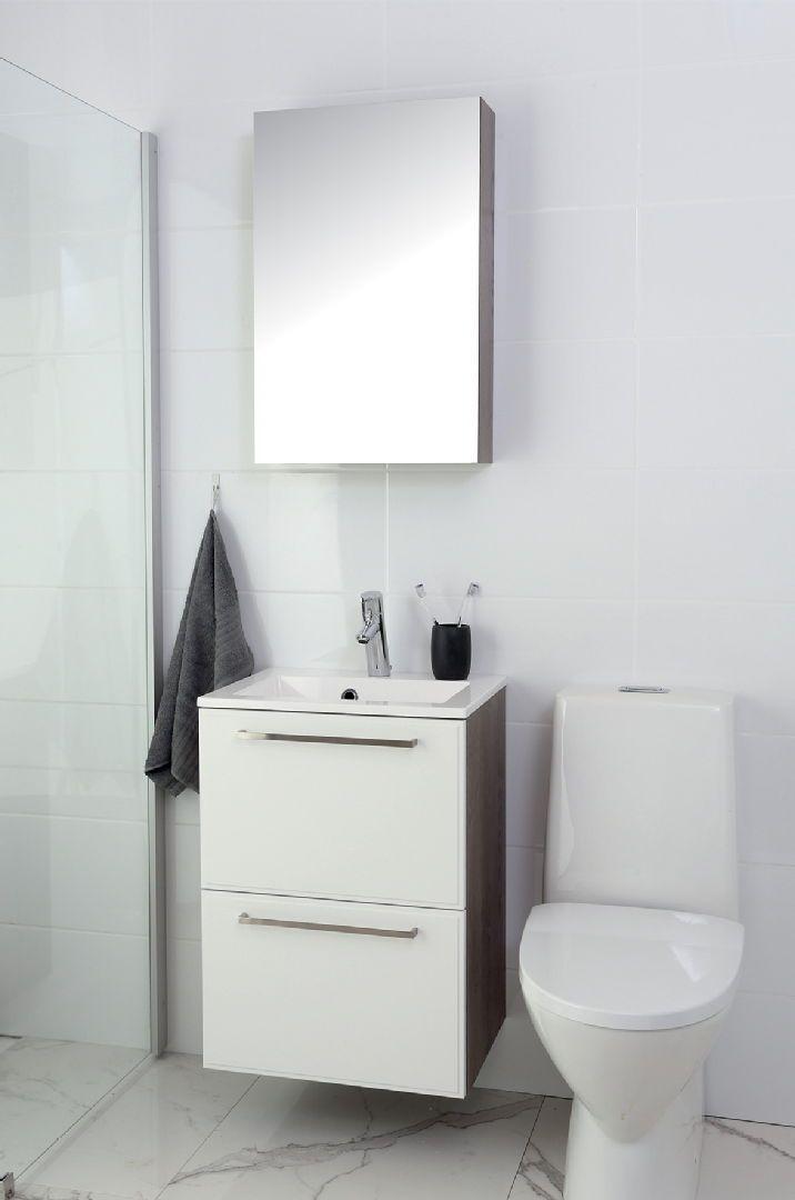 Kompakti Kelo 50 allaskaappi on näyttävä valinta pienimpiin kylpyhuonetiloihin. Klikkaa kuvaa, niin näet tarkemmat tiedot!