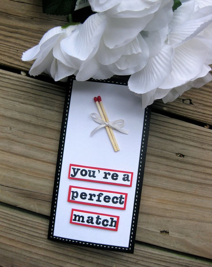 You're a perfect match card, wedding card, congratulations card. $6.99, via Etsy.