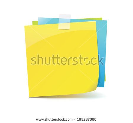 Yellow and Blue Sticky Notes icon
