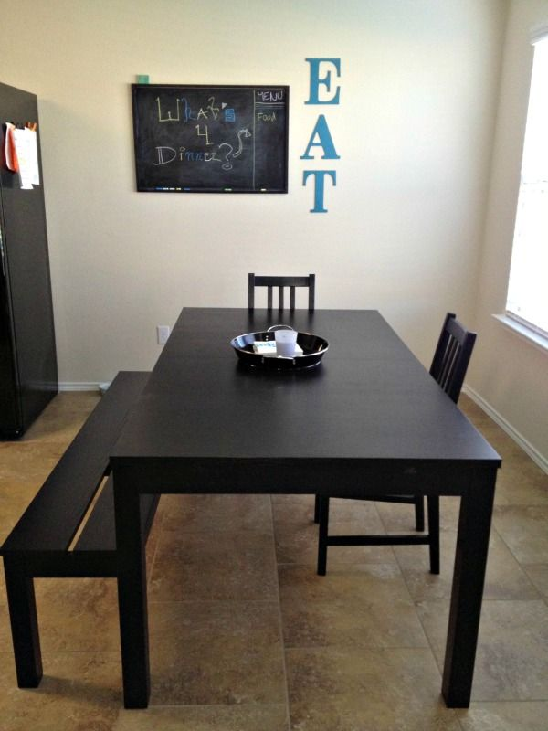 Modern Black IKEA Table For The Dining Room