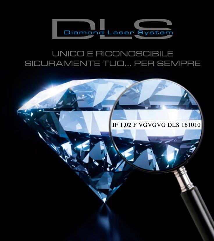 """DLS – Diamond Laser System La moderna certificazione che impedisce che il tuo diamante venga sostituito. """"TUO PER SEMPRE""""   DLS - Diamond Laser System è una nuova campagna di ITC PORTALE: https://goo.gl/JNFnLd #itcportale"""