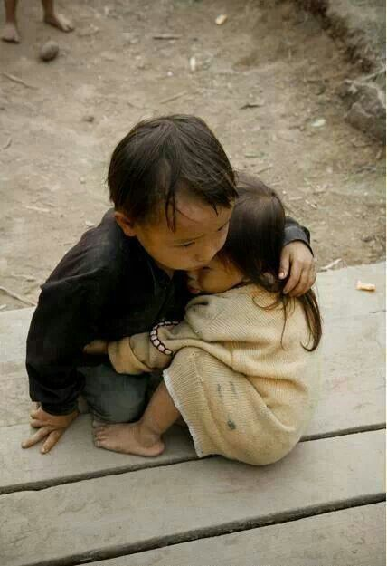 What saddness there is  and these poor Children have to suffer just because of Birth! Beautiful little boy and Girl