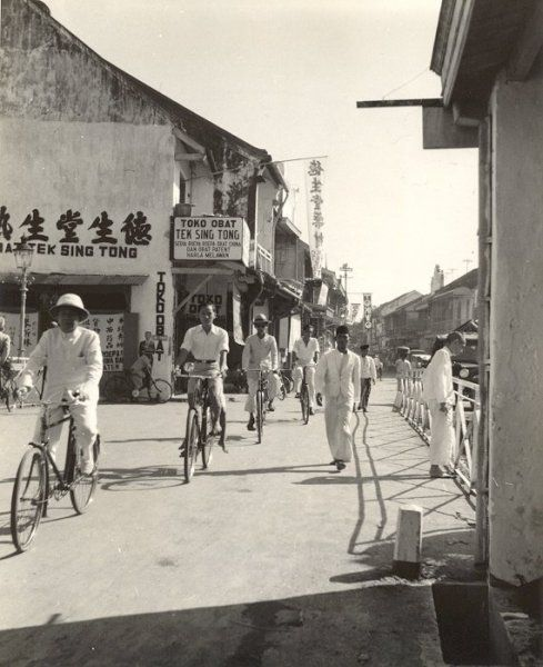 Winkelstraat, Semarang, Java, Indonesië (1933)