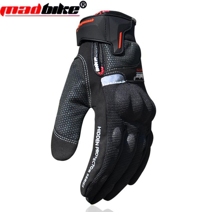 [Visit to Buy] Gloves motorcycle waterproof warm windproof men motorbike Protective Gloves guanti moto racing guantes riding Luvas black  L XL #Advertisement