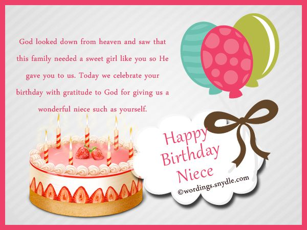 Niece Birthday Messages: Happy Birthday Wishes for Niece ...