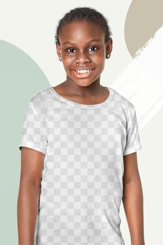 Black Girl S Casual T Shirt Png Mockup Free Image By Rawpixel Com Gifty Casual Girl T Shirt Png Clothing Mockup
