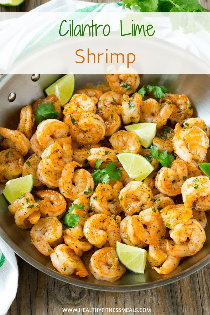 Coriandre Lime Shrimp   – food