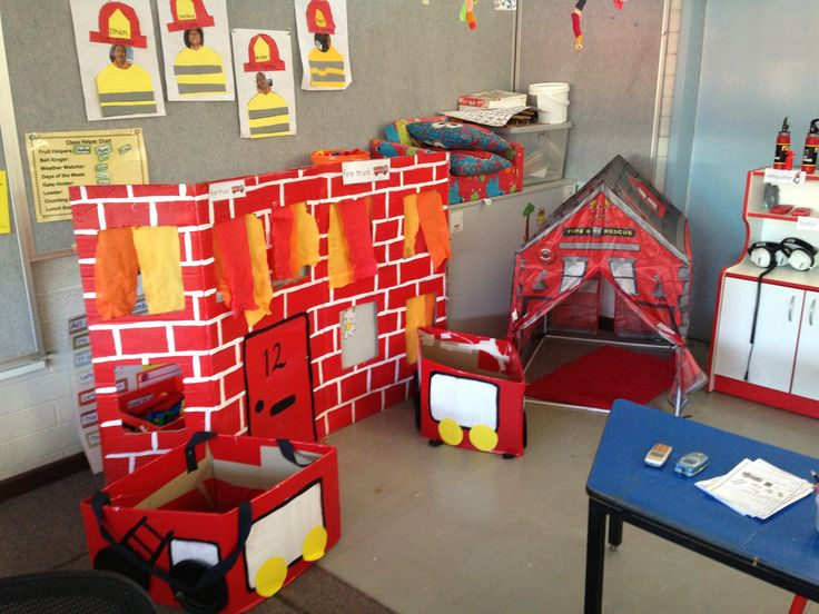 Fire station dramatic play area