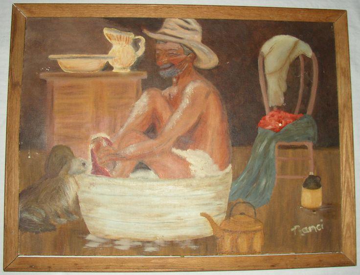 Cowboy Bathroom Art | Portraits Gallery | Art For Sale | Cowboy Bath