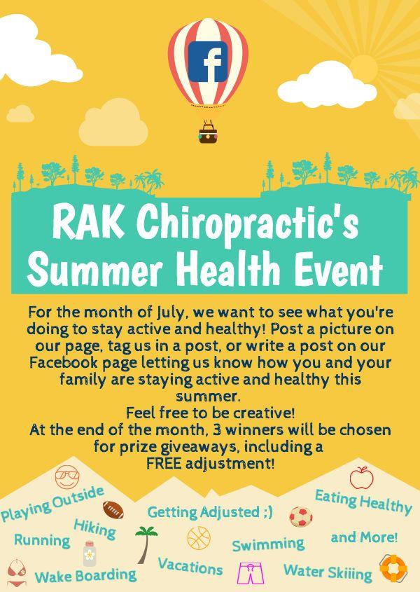 RAK Chiropractic's Summer Health Event. Rochester ...
