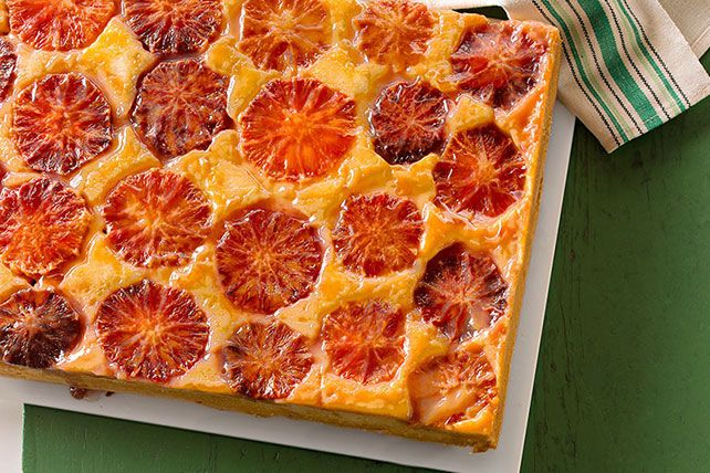 Blood Orange Upside-Down Cake - Why do pineapple lovers always get the upside-down cake fun? We're dedicating this glorious cake recipe to blood orange fans everywhere.