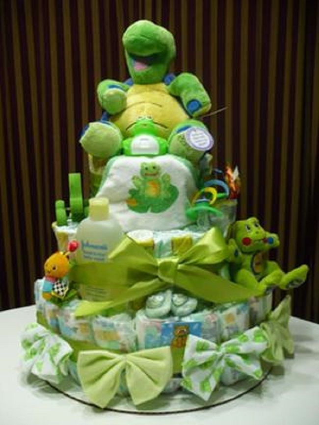 turtle baby green turtle diaper cakes baby showers shower baby diapers