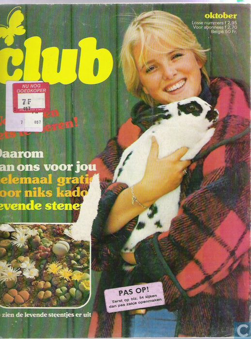 #Tina_Club_Tijdschrift vanaf een jaar of 12, 13 werd de Tina een beetje te kinderachtig (hoewel de strips natuurlijk verslonden werden) en daarna kwam de Tina Club wat later #Tijdschrift_Club werd. In dit blad werden Meer puber-ondewerpen besproken als: verliefdheid en hoe moet je zoenen.