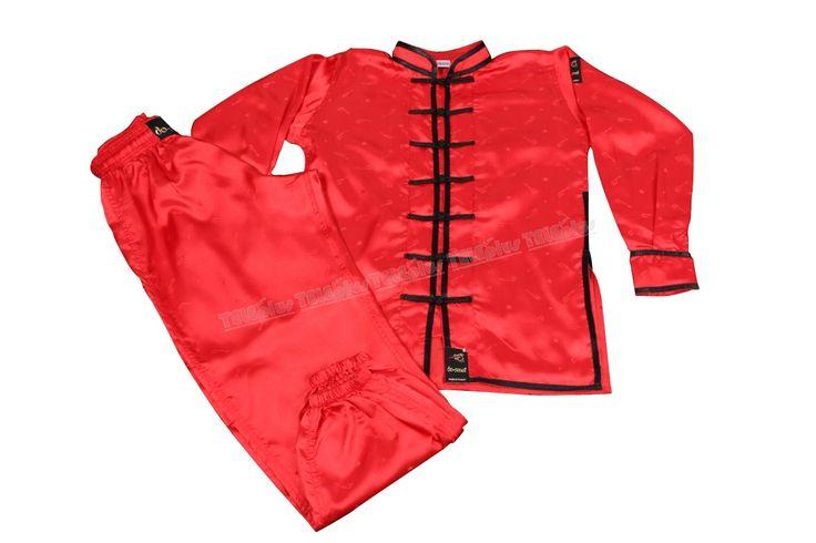 """Do-Smai Wushu Çençuan Elbisesi VS-090 - 100 gr/m² kırmızı  su tutmaz jakarlı satenden imal edilmiştir.  """"Çençuan""""  elbiselerimizin önü polyester ipten örülmüş 7 adet siyah düğme ile kapatılmaktadır:  120-190 arası 10 ar cm arayla 8 beden. - Price : TL102.00. Buy now at http://www.teleplus.com.tr/index.php/do-smai-wushu-cencuan-elbisesi-vs-090.html"""