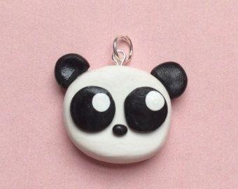 Polymer clay panda charm, baby panda, panda charm, polymer clay panda, animal charm, animal jewelry, polymer clay charm