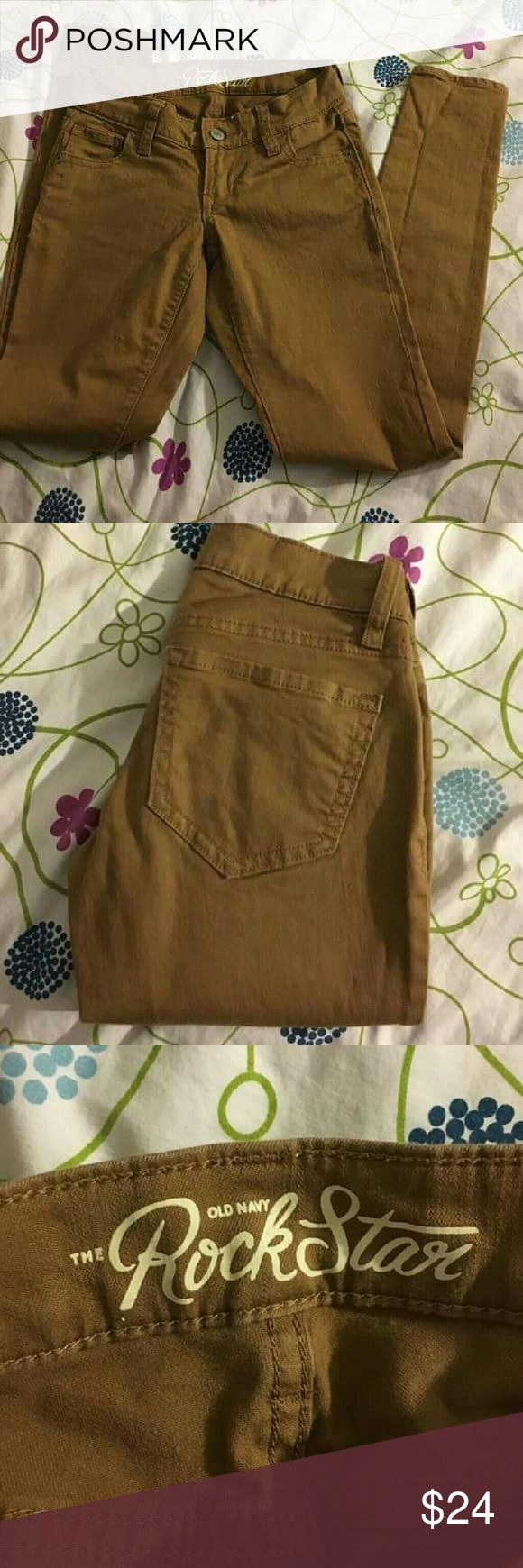 🌞trade or sell🌞 Old Navy tan skinny jeans Size 0 petite - Old Navy sizes run small. These are great condition, no flaws, they're just too small for me. I ordered them from another Posher .  🙅no modeling  🤔will consider trades (I need pants size 2p) - will take measurements if needed! Old Navy Jeans Skinny