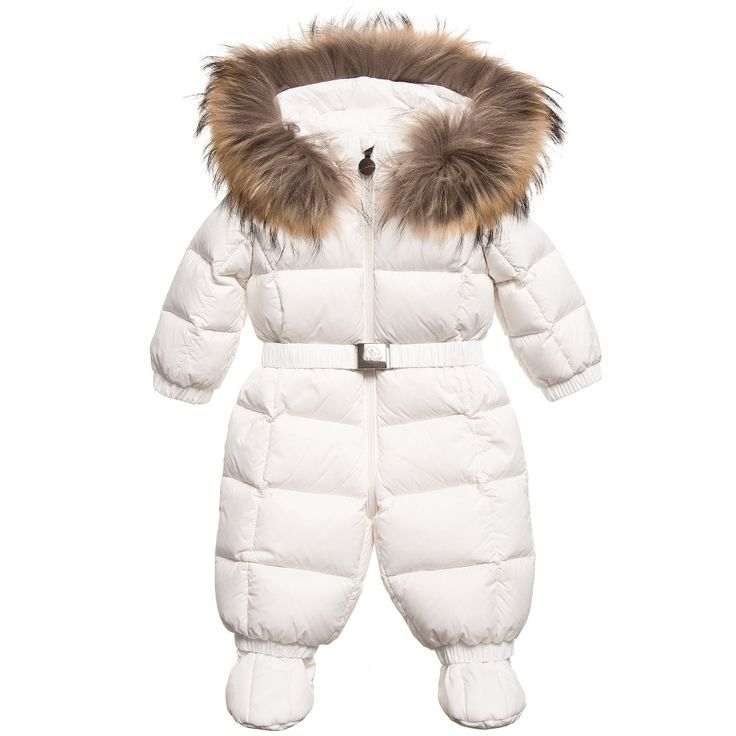 white moncler baby snowsuit