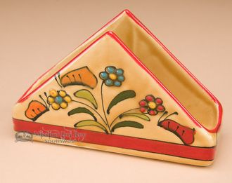 Southwestern Painted Talavera Pottery Napkin Holder (t21)