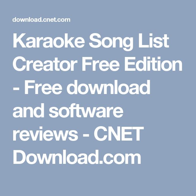 Karaoke Song List Creator Free Edition - Free download and
