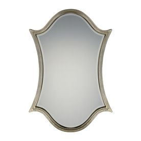 Quoizel Vanderbilt 32 X 48 Century Silver Leaf Beveled Arch Framed Transitional Wall Mirror Qr2791
