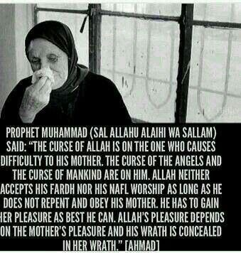 Prophet Muhammad on serving Mothers