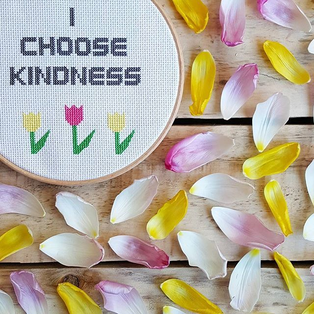 Lucy's first cross stitch design inspired by the need for kindness and some gorgeous tulips. More over on our blog.
