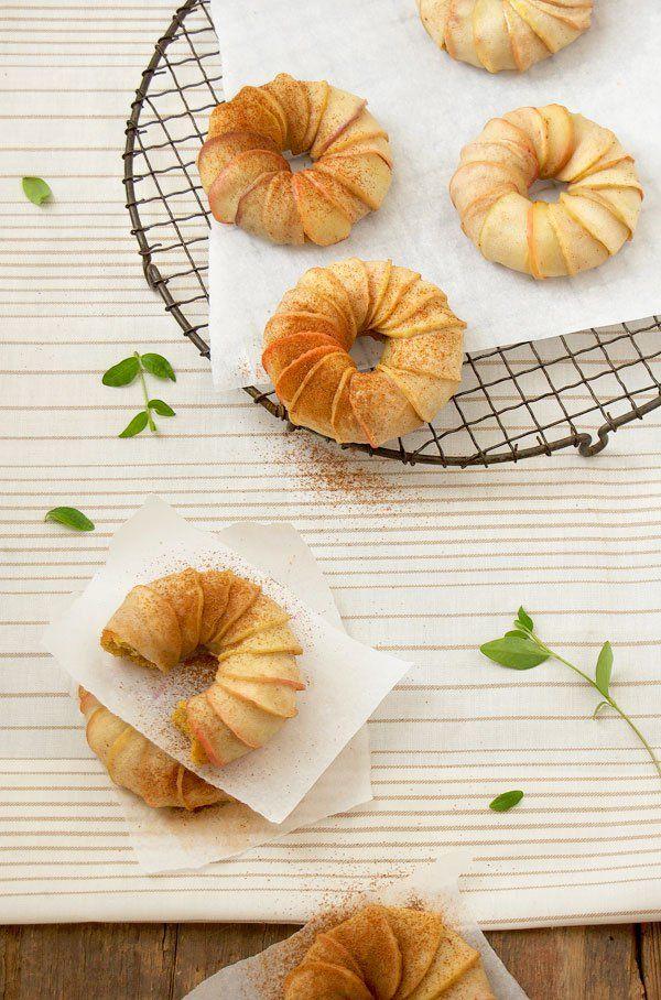 Pumpkin Cake Apple Turbans with an Apple Cider and Pineapple Vanilla BeanSauce. PS: Used lemon io pineapple to make it less sweet.