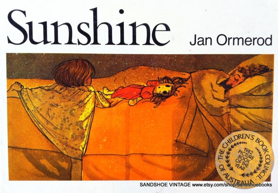 """""""Sunshine"""", by Jan Ormerod - a little girl wakes with her mummy and daddy to a busy day. Exquisite. See also """"Moonlight"""", by Jan Ormerod."""