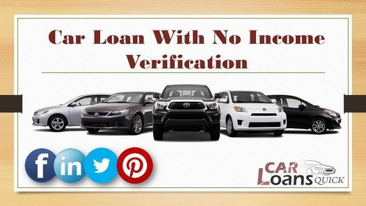 auto loan no income verification