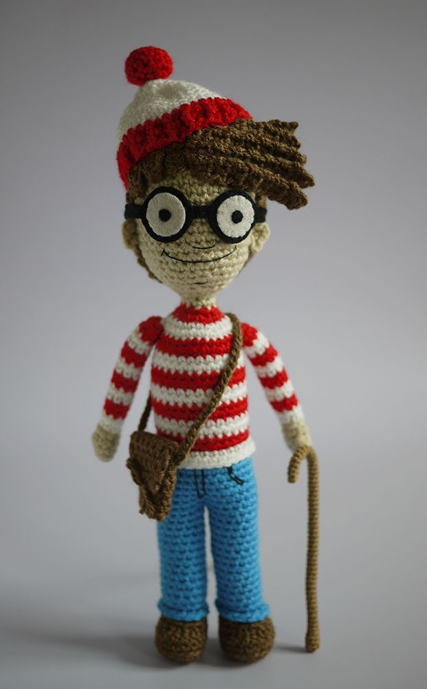 Waldo - just the picture, but experienced amigurumi crocheters could maybe figure him out?