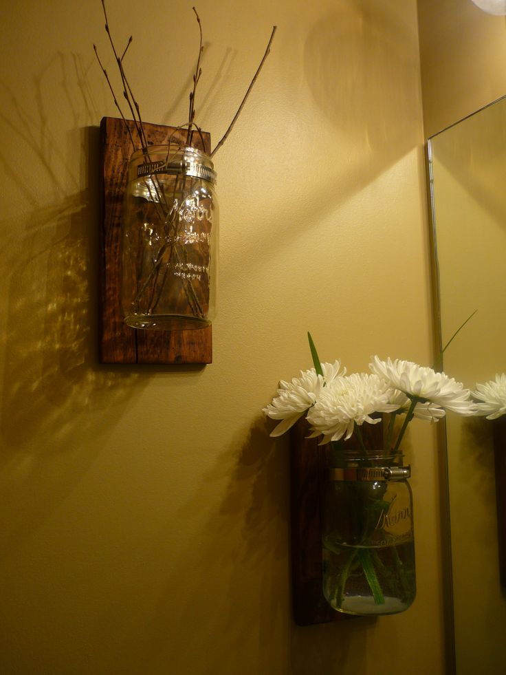 Repurposed Pallet into Wall Sconces | Pallets | Pinterest