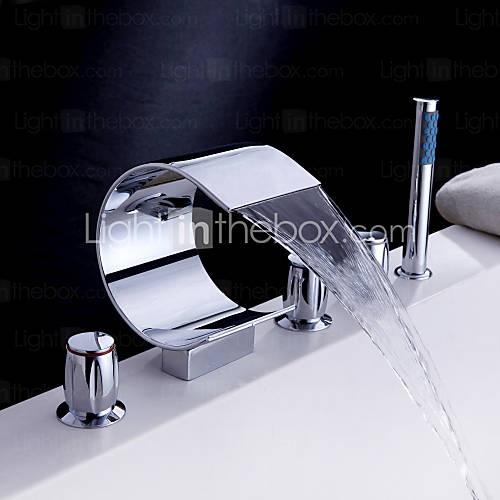 Waterval bad kraan met handdouche gebogen vorm ontwerp