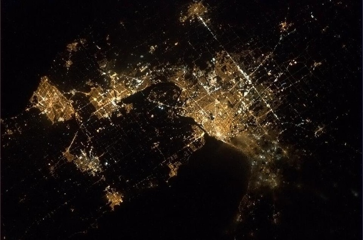 Niagara from space