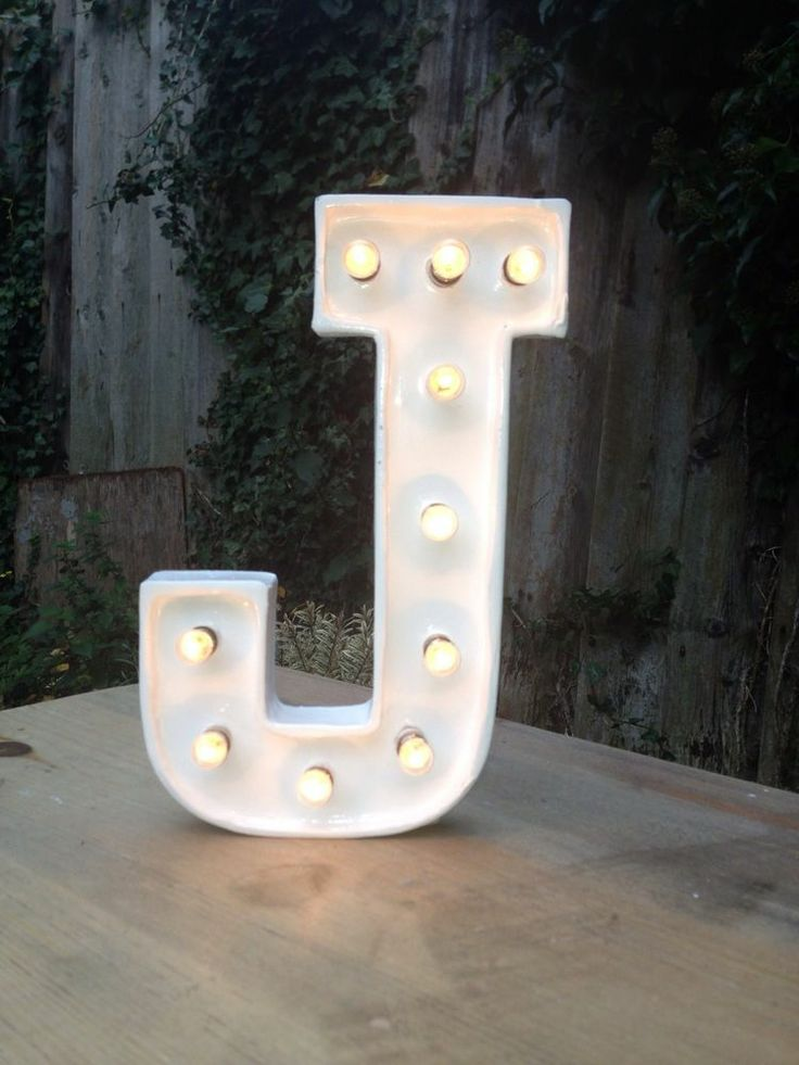 8inch (20cm) Marquee Letter Lights, including dimmer switch and power supply.
