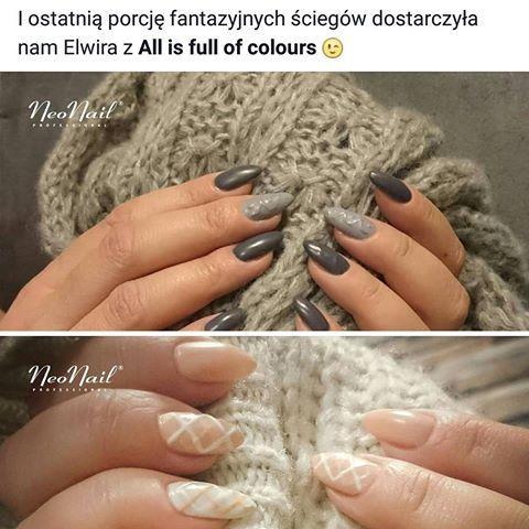 Moje stylizacje dla Neonail  #nail #nails #nailart #instanail #instanails #neonail #polishnails #manicure #hybrydanails #hybrydy #paznokciehybrydowe #paznokcie #sweterek #trendsetterkaneonail