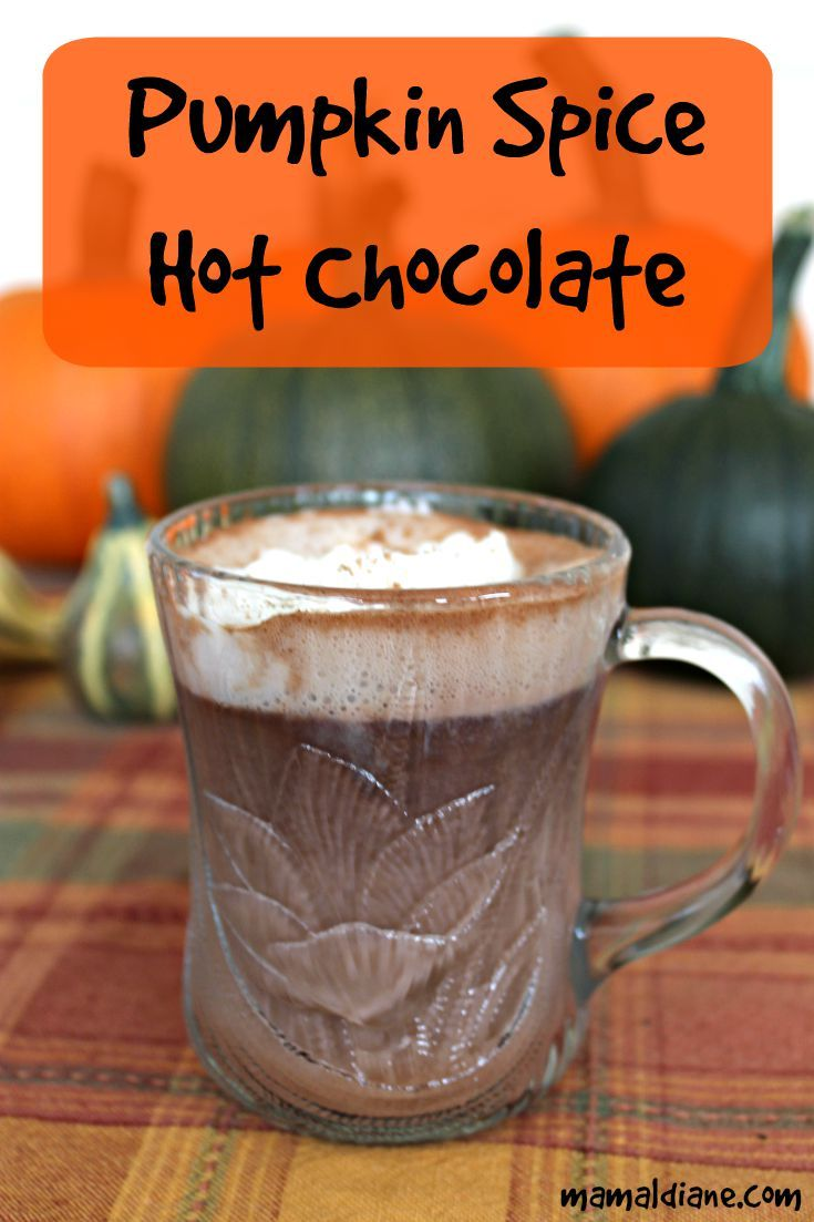Pumpkin Spice Hot Chocolate is so simple to make at home. It's super creamy. #pumpkin