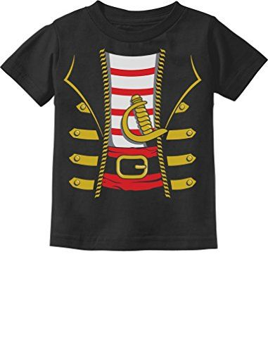 Tstars Halloween Pirate Buccaneer Costume Outfit Suit Cute Toddler/Infant Kids T-Shirt 5/6 Black