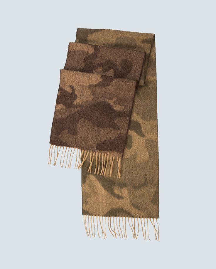 Lambswool/Angora Camouflage Scarf
