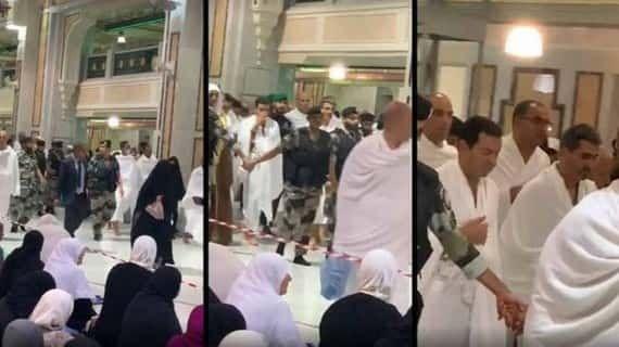 الأمير مولاي رشيد يؤدي مناسك العمرة فيديو Abs Lab Coat Coat
