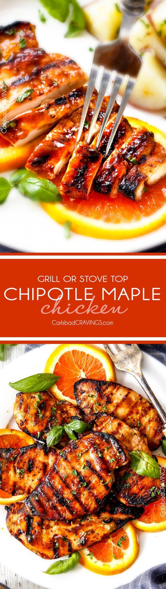 10 Minute prep Grilled or Stove Top Chipotle Maple Chicken - I LOVE this…