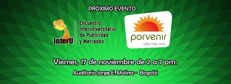 Evento de sustentación y premiación: Viernes 17 de noviembre de 2017 – 2:00 a 7:00 p.m. Auditorio Jorge Enrique Molina: Calle 22 #5-85, Bogotá. Registro individual on-line confirmando asistencia, del 7 al 28 de octubre/17: www.interu.com.co