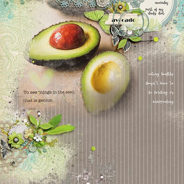 Avocado by Rae at The Lilypad using digital scrapbooking products from The Lilypad